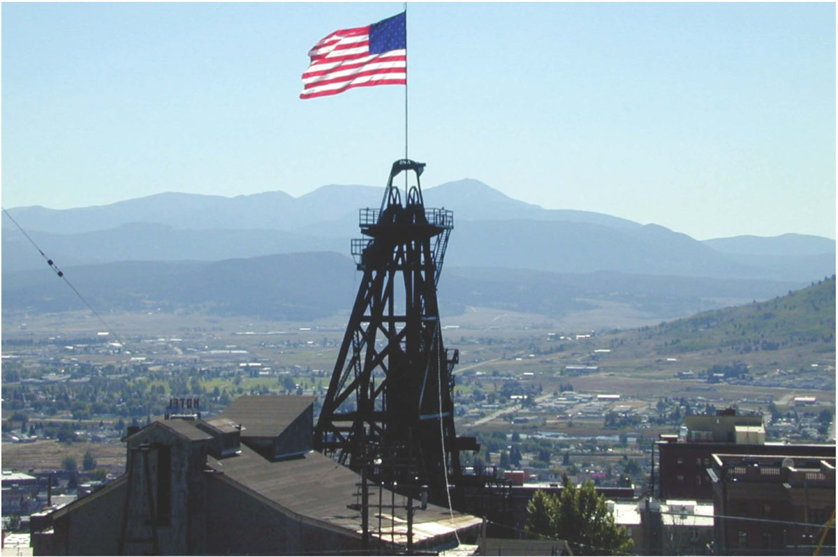Headframe at Butte, Montana